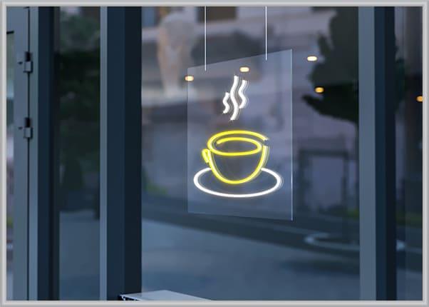 Вывеска из flex (флекс) неона для кафе