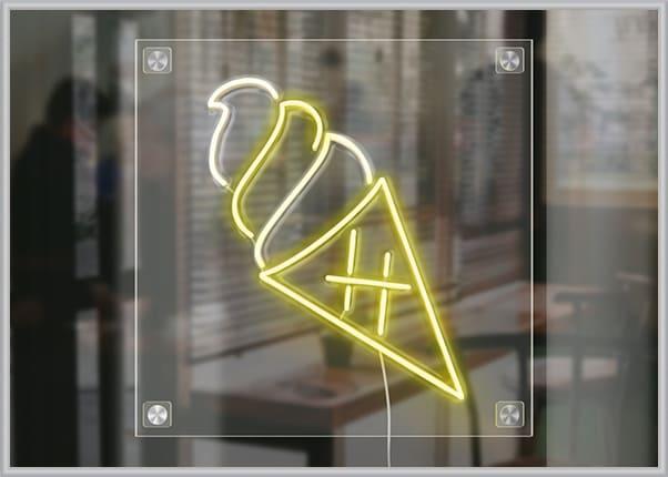 Вывеска из гибкого LED неона в форме мороженого