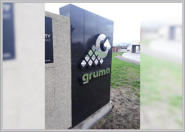 Объемные буквы, логотип для аграрной фирмы - изготовление и монтаж