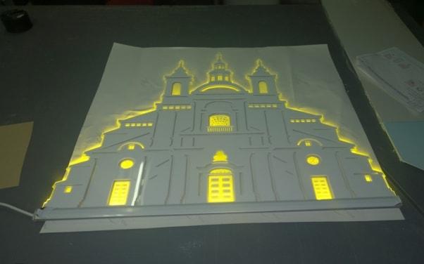 Акрилайт - макет здания собора Божьей Матери