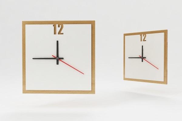 Характеристики, размер настенных часов с логотипом КВ-5534