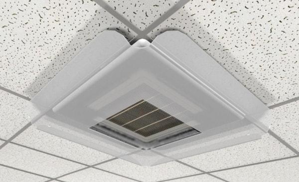 Дефлектор - підвісний захисний екран для кондиціонера на стелі