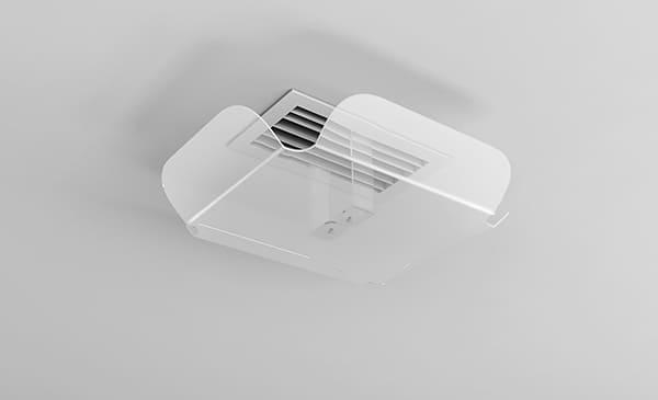 Екран відсікач повітря для вентиляційної решітки дифузора ZET-004 100*200