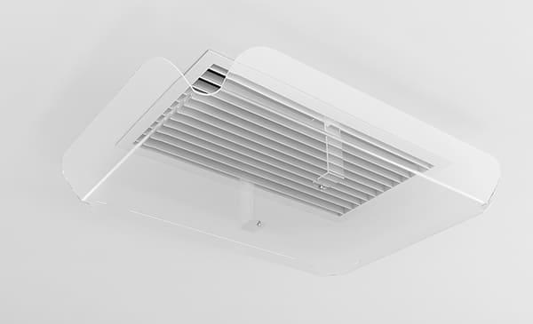 Защитный экран для вентиляционной решетки диффузора ZET-004 250*450