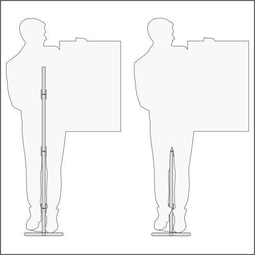 Схема, технические характеристики интерьерной ростовой фигуры мужчины