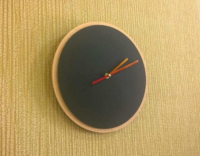 Круглые грифельные часы для рисования, написания мелом КР-44