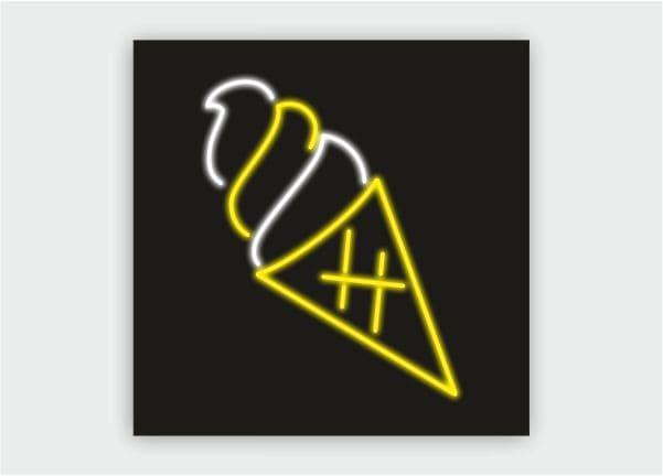 Вывеска, светильник из гибкого (LED, флекс) неона FSN2 black