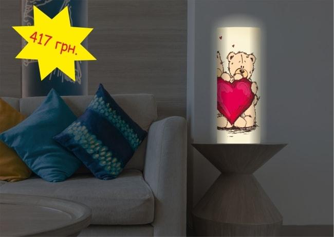 Пластиковий настільний світильник подарунок коханій на День Святого Валентина