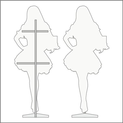Схема, технічні характеристики ростової фігури дівчини