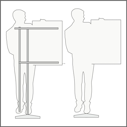 Схема, технические характеристики ростовой фигуры мужчины