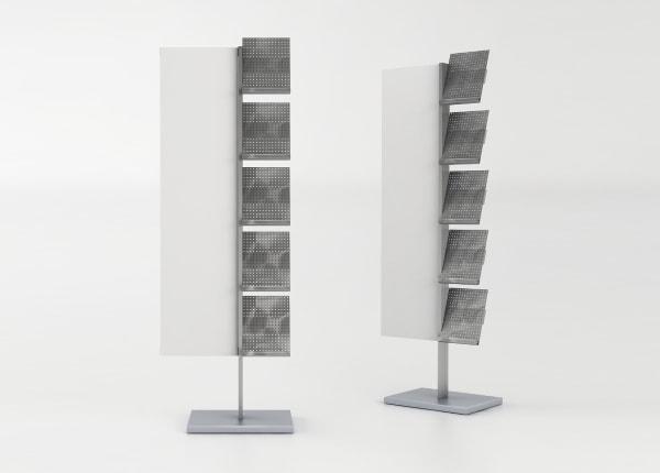 Рекламная выставочная стойка, стенд для полиграфии (буклетница) STEND-01-FL-1181