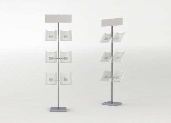 Рекламная выставочная стойка, стенд для полиграфии STEND03-FL-872