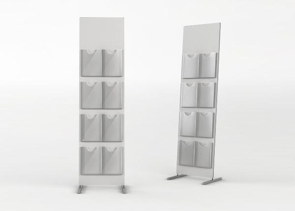 Рекламная выставочная стойка, стенд для полиграфии (буклетница) STEND-05-FL-876