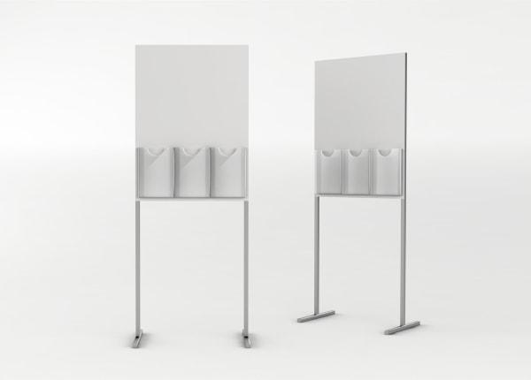 Рекламная выставочная стойка, стенд для полиграфии (буклетница) STEND-07-FL-2136